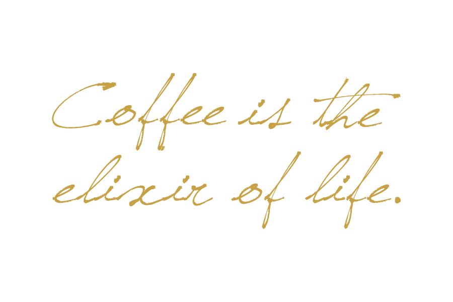 coffee is the elixir of life